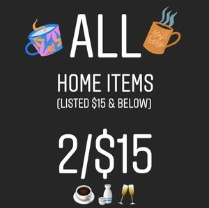 🎉HOME Items listed $15 & below 2/$15🎉